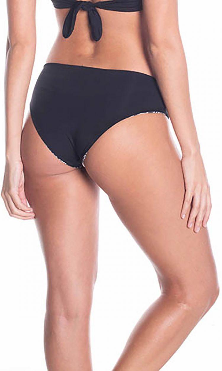 Black / printed reversible bikini bottom - BOTTOM ALBA BLACK NIGHT
