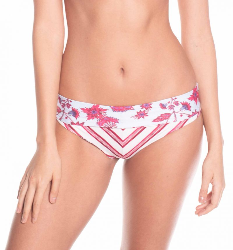 Floral reversible / striped high waist bottom - BOTTOM CARDINAL EPOQUE