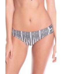 Stripped black and white bikini bottom - BOTTOM CARIBE LIGHT STRIPES
