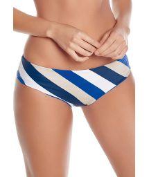 Klein blue & white stripped bikini bottom - BOTTOM FLORA MARINE