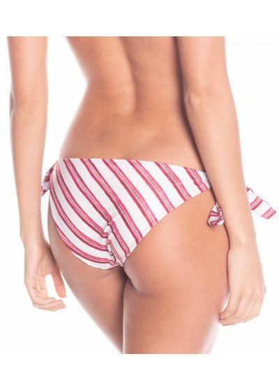 Reversible bikini bottom flowers / stripes - BOTTOM FLORA SPROUT / ARTISAN STRIPES