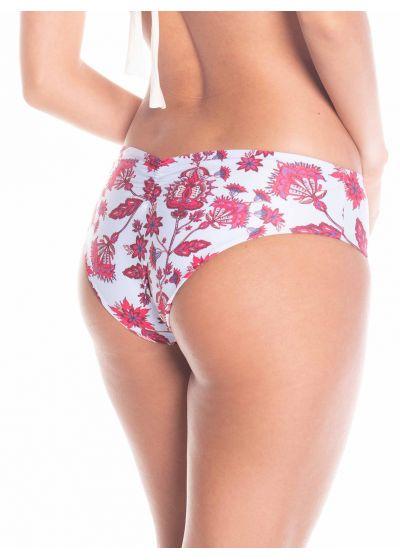 Striped / floral reversible Brazilian bikini bottom - BOTTOM FREYA
