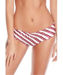 Striped / floral reversible Brazilian bikini bottom - BOTTOM FREYA