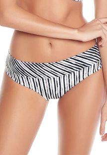 Schwarz/gestreifte Bikinihose, breite Seiten - BOTTOM MALVA