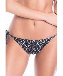 Reversible printed side-tie bikini bottom - BOTTOM MALVA RUSTIC DOTS / BLACK NIGHT