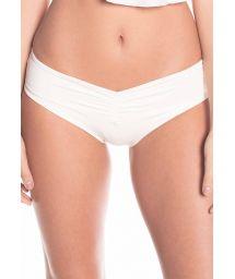 Ecru bikini bottom front/back scrunch - BOTTOM MAMBO BRANCO