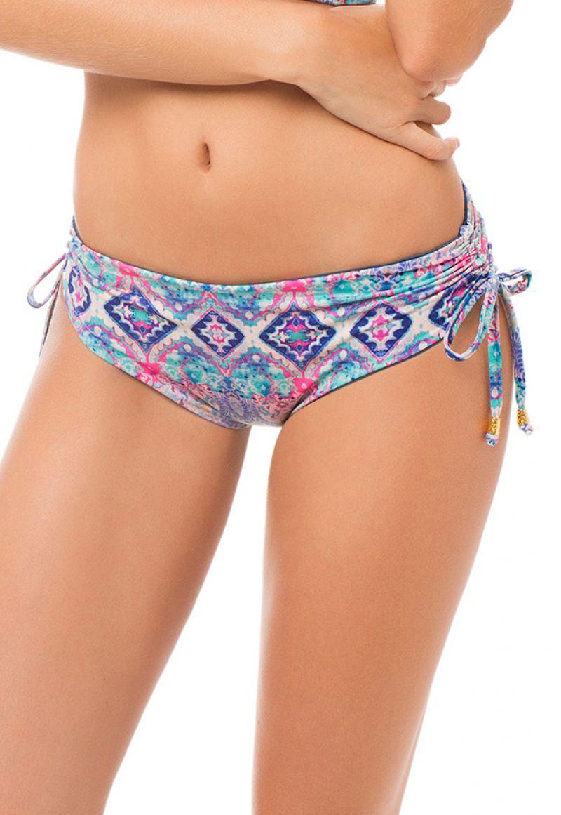 Reversible bikini bottom with ruched sides - BOTTOM MAREA DELILAH