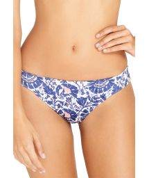 Navy blue / white floral bikini briefs - BOTTOM SAMBA INDIGO FLORA