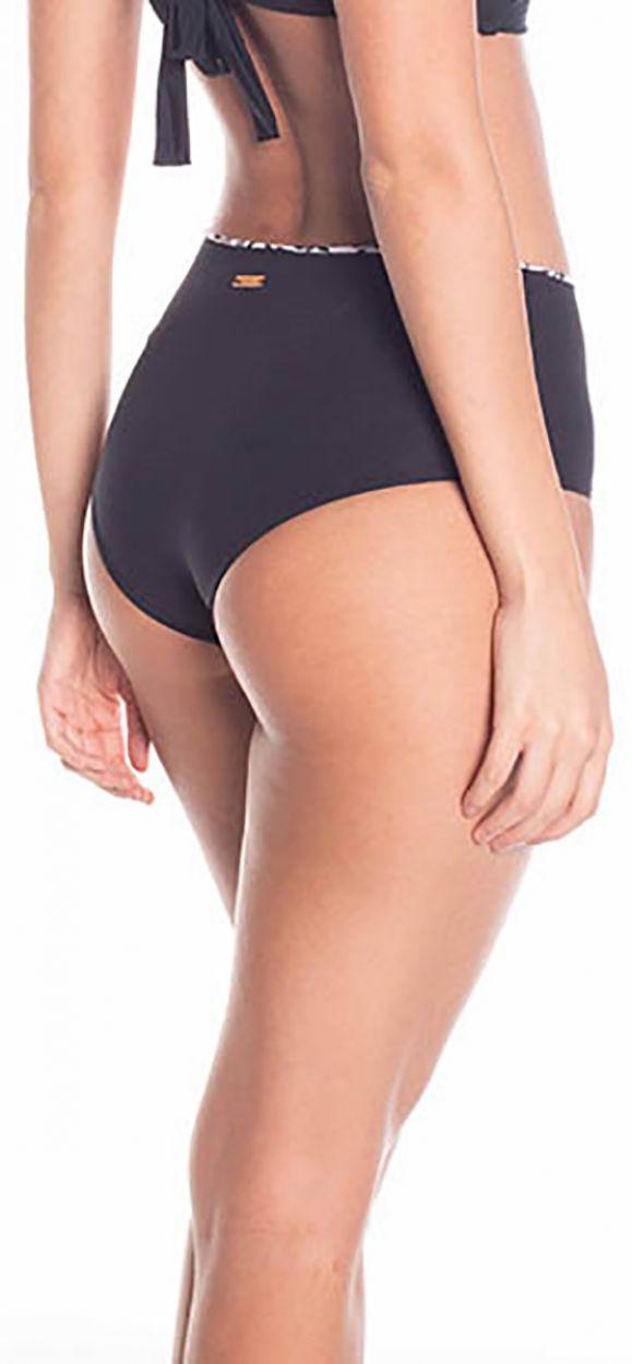 Black / printed reversible high-waist bikini bottom - BOTTOM SIERRA BLACK NIGHT