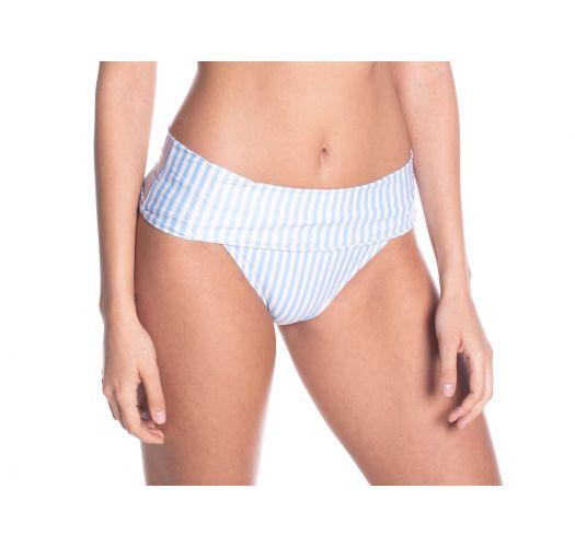 BBS X SAHA - striped high-waisted bikini bottoms - BOTTOM SIERRA FLORAL NIGHT