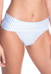 BBS X SAHA - striped high-waisted bikini bottoms - BOTTOM SIERRA FLORAL NIGHT