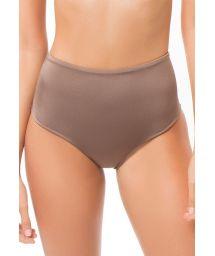 Glossy chestnut brown high-waisted bikini bottom - BOTTOM SIERRA STARDUST