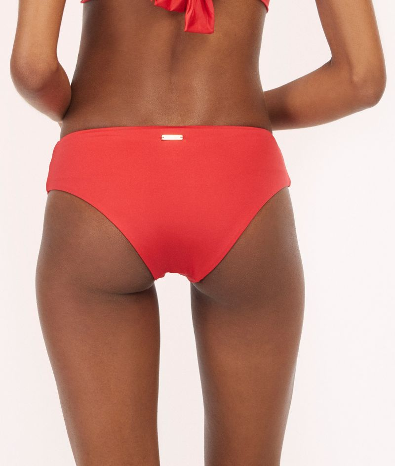 Red / orange larger side bikini bottom - BOTTOM TUCAN AURORA GERANIUM RED