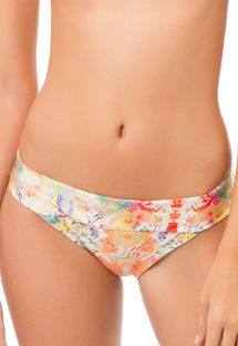 Multicoloured ethnic print bikini bottoms - CALCINHA AURORA BOHEME