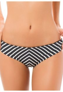 Black and white striped hipster bikini bottoms - CALCINHA CANASTA STRIPES