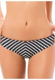 Fastsiddende bikinitrusser med sorte/hvide striber - CALCINHA CANASTA STRIPES
