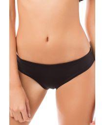 Black wide side hipster bikini bottoms - CALCINHA CUMBIA PRETO