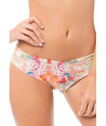 Reversible orange/ethnic print bikini bottoms - CALCINHA GAIRA BOHEME