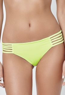 Lime green bikini bottoms with multi-strap sides - CALCINHA LIMAO LENCO