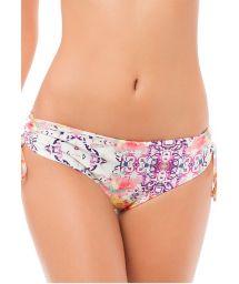 Lace-up side bikini bottoms in a multicoloured ethnic print - CALCINHA MACONDO BOHEME