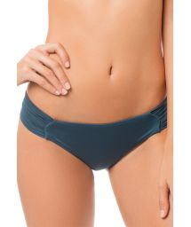 Fixed bikini bottoms in duck green with pleated sides - CALCINHA MAPALE CYPRESS