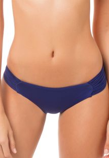 Navy blue bikini bottom with pleated sides - CALCINHA MAPALE SUPERNOVA