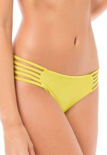 Limegul bikiniunderdel med flera band i sidorna - CALCINHA SALMA LEMON