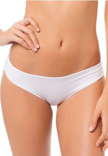 White lined fixed side bikini bottoms - CALCINHA SIERRA BRANCO