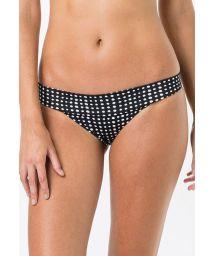 Black fixed bikini bottom in white polka dots - BOTTOM BANDEAU POLKA