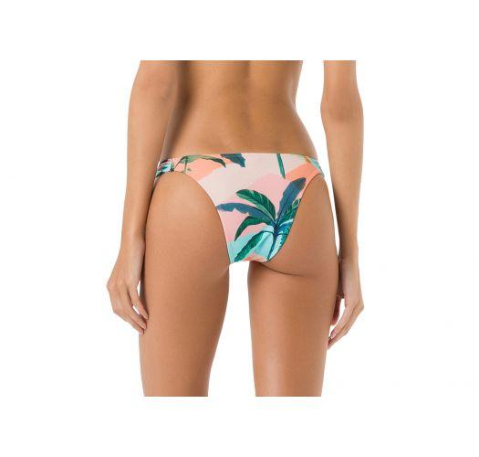 Bikinihöschen, unverstellbar,tropischer Aufdruck in Pastellfarben - BOTTOM BOJO BRISA