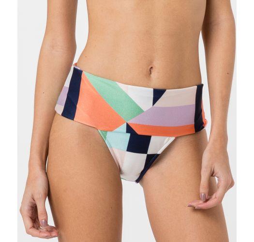 Bikinitrusser fra modeshow med mangefarvet geometrisk mønster - BOTTOM BOJO FLOOR
