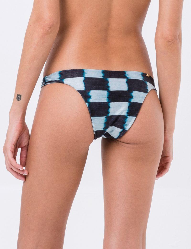 Fixed Brazilian bikini bottom in square tie-dye print - BOTTOM CROP TIE DYE