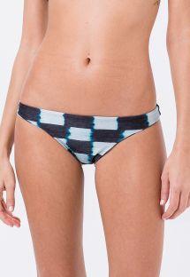 Karierte feste Bikinihose mit Tie-Dye-Print - BOTTOM CROP TIE DYE