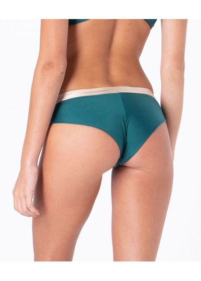 Green & nude fixed cheeky Brazilian bikini bottom - BOTTOM FIXED INTIMATES