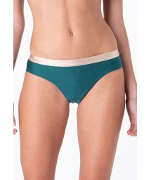 Green & nude fixed cheeky Brazilian bikini bottom - BOTTOM FIXED INTIMATES