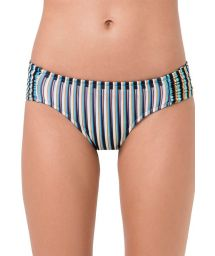 Fixed bikini bottom blue stripes - BOTTOM FRANZIDO GAROUPA
