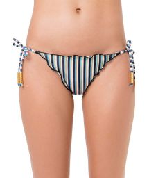 Wavy Brazilian bikini bottom blue stripes - BOTTOM FRUFRU GAROUPA
