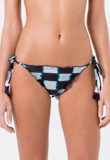 Karierte Scrunch-Bikinihose mit Tie-Dye-Print - BOTTOM FRUFRU TIE DYE