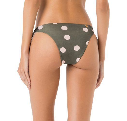 Side-tie grey bikini bottoms - polka dots - BOTTOM LONGO PASSADOR POP
