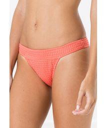Stadig bikininederdel med textur - korallfärg - BOTTOM METAL ANARRUGA CORAL