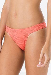 Fastsiddende teksturerede bikinitrusser - koralrød - BOTTOM METAL ANARRUGA CORAL