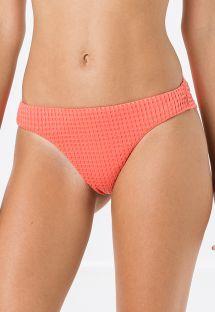 Fastsiddende koralrøde bikinitrusser i tekstureret materiale - BOTTOM MIRACLE ANARRUGA CORAL