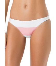 White and pink bikini briefs - BOTTOM MIRACLE CLUB