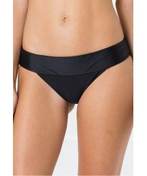 Black bikini bottom with a waistband - BOTTOM MIRACLE LISO