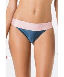 Tvåfärgadblå/rosa stadig bikininederdel - BOTTOM MIRACLE LISO BICOLOR