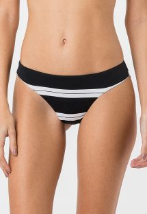 Bikini bottom in black and white stripes - BOTTOM MIRACLE SPORT BLACK