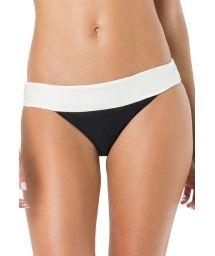 Tvåfärgadsvart/vit stadig bikininederdel - BOTTOM PALA LISO BICOLOR
