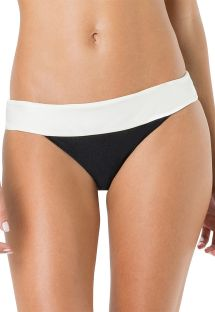 Bikini bottom in two colors: black and white - BOTTOM PALA LISO BICOLOR