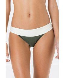 Tvåfärgad kaki/vit stadig bikininederdel - BOTTOM PALA MIRACLE LISO