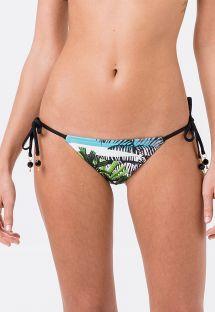 Bikinihose mit Palmenmotiv und Accessoire - BOTTOM PALMEIRA STRIPES